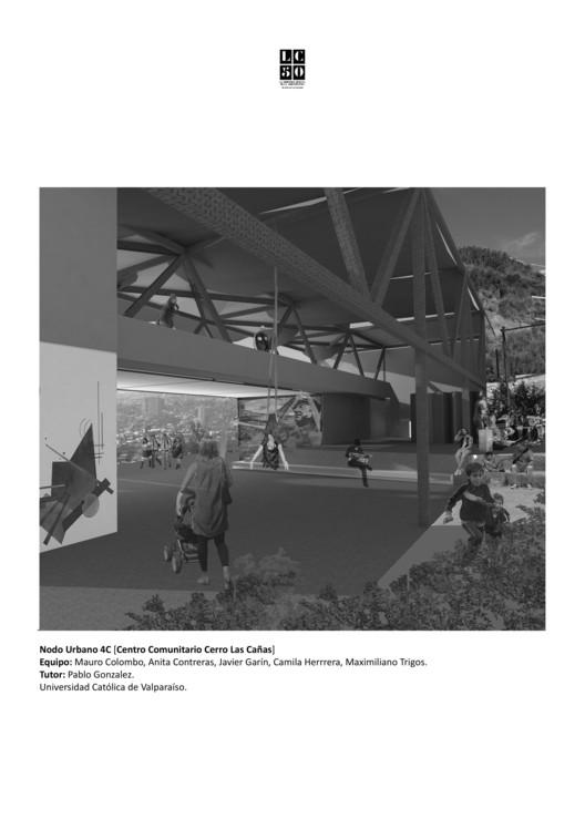 Nodo Urbano 4C (Centro Comunitario Cerro Las Cañas) / L01. Image Cortesía de Arquitectura Caliente