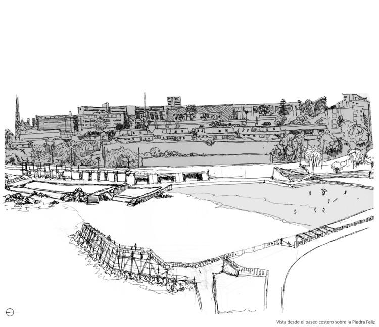 10 propuestas universitarias para la transformación urbana de Valparaíso, Balneario de piscinas naturales. Image Cortesía de Arquitectura Caliente