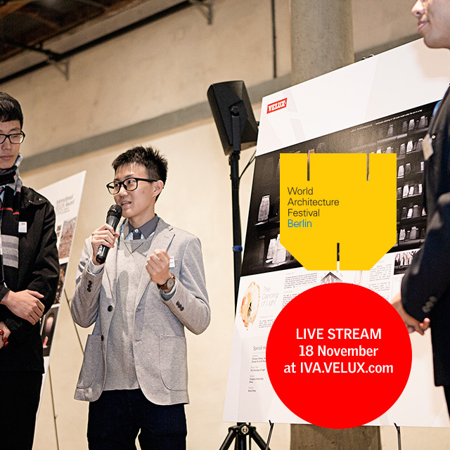 International VELUX Award 2016 for Students of Architecture - Competition Live Stream, Watch the ten regional winners of the International VELUX Award 2016 for Students of Architecture present their daylight-inspired projects at the World Architecture Festival in a live streamed event!