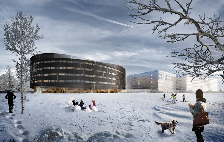SPOL Architects Receives Approval for Oval-Shaped Hotel Near Oslo Airport, Courtesy of SPOL Architects
