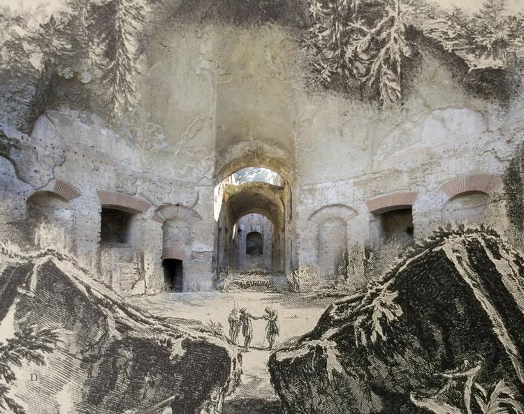Explora la fascinante superposición de estilos arquitectónicos con 'El Proyecto de Piranesi', Cortesía de Olympio Augusto Ribeiro