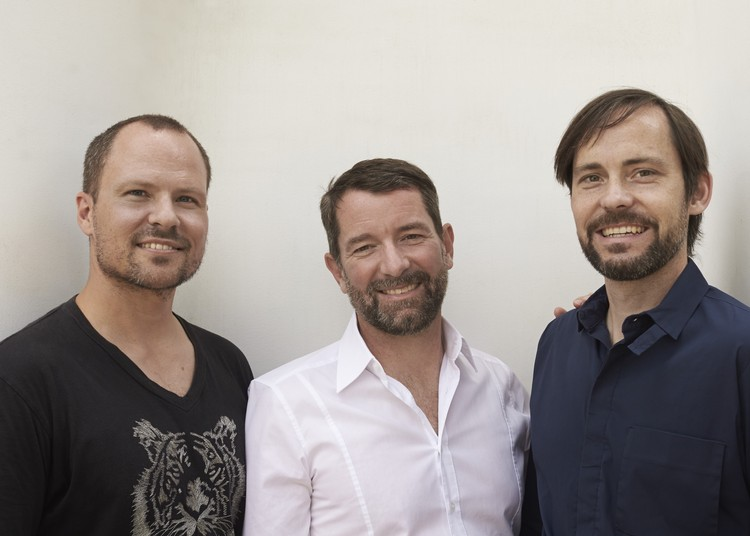 Chris Bosse, Alexander Rieck and Tobias Wallisser, LAVA founders. Image Courtesy of LAVA
