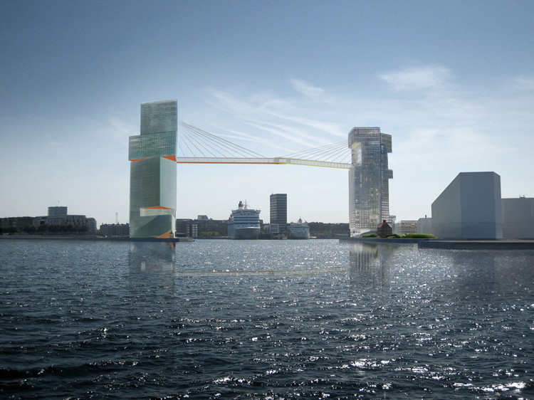Copenhagen Gateway. Imagen © Stevn Holl Architects