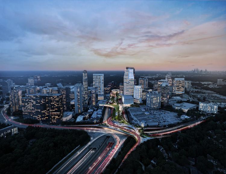 Un parque público sobre una autopista buscará unificar Atlanta, Imagen cortesía de Rogers Partners / Nelson Byrd Woltz