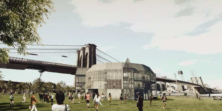 Globe by the Brooklyn Bridge, New York. Image Courtesy of The Container Globe