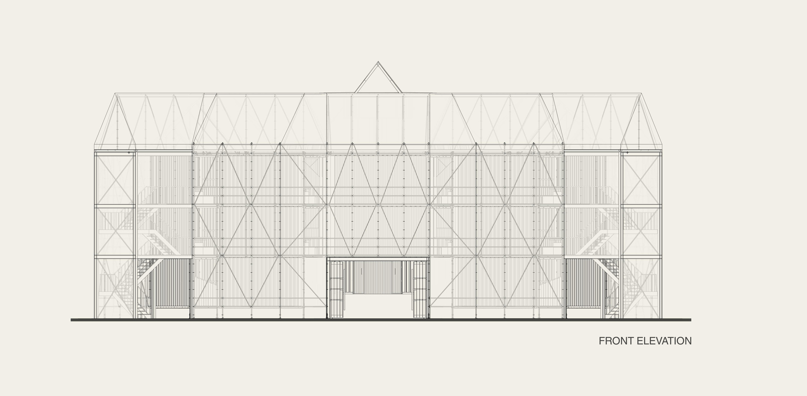 Front Elevation Definition Theatre : Gallery of this recreation shakespeare s globe theatre