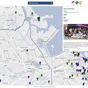 Modo MAPA - Pin localizando a intervenção e contendo informações básicas. Image Cortesia de LabIT