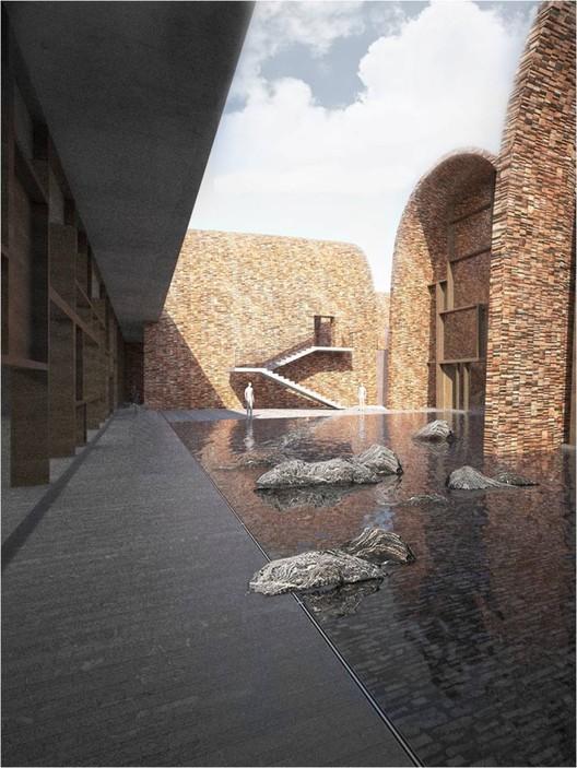 Patio. Imagen cortesía de Studio Pei-Zhu
