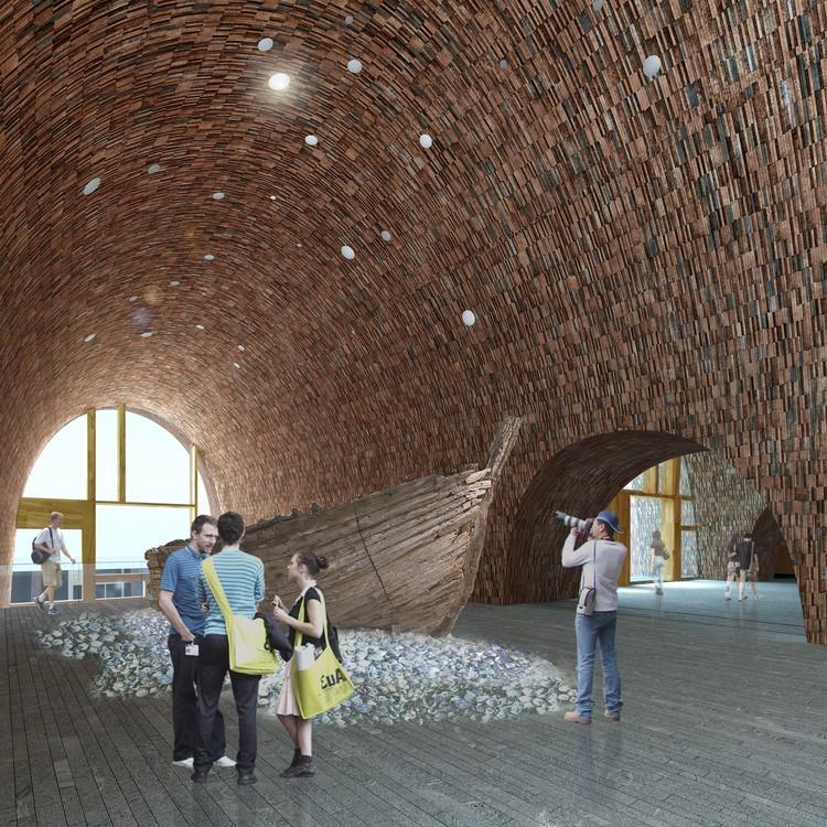 Hall de exposición. Imagen cortesía de Studio Pei-Zhu