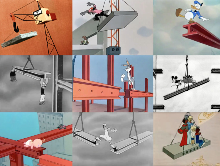 'Choreographies' presenta la construcción arquitectónica en los dibujos animados de EEUU y URSS para la Trienal de Lisboa, Cortesía de Pedro Alonso y Hugo Palmarola