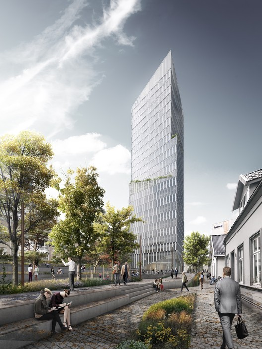 Schmidt Hammer Lassen Wins Competition for Mixed-Use Tower and Urban Plan in Stavanger, Norway