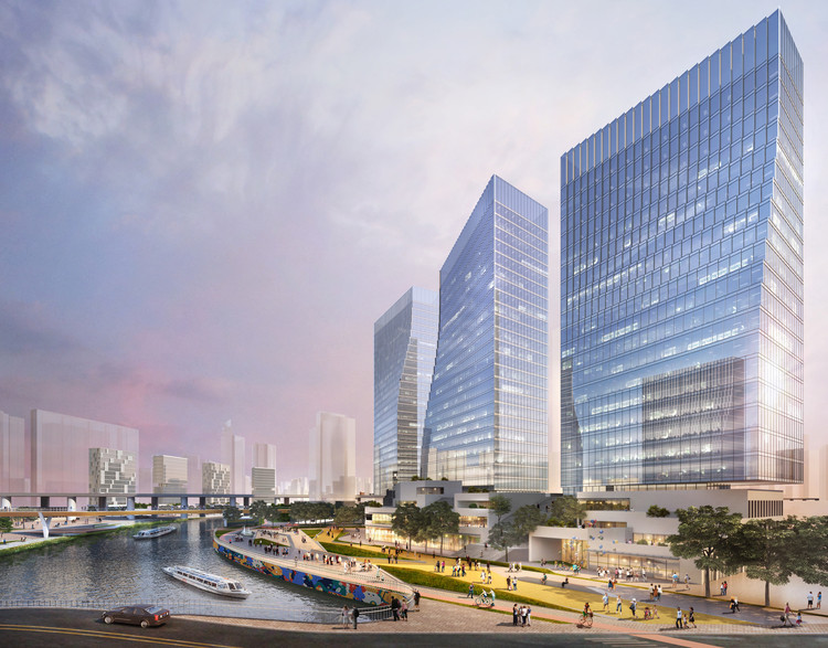 Sasaki Wins Competition to Reshape Shanghai's Suzhou Creek, Courtesy of Sasaki Associates