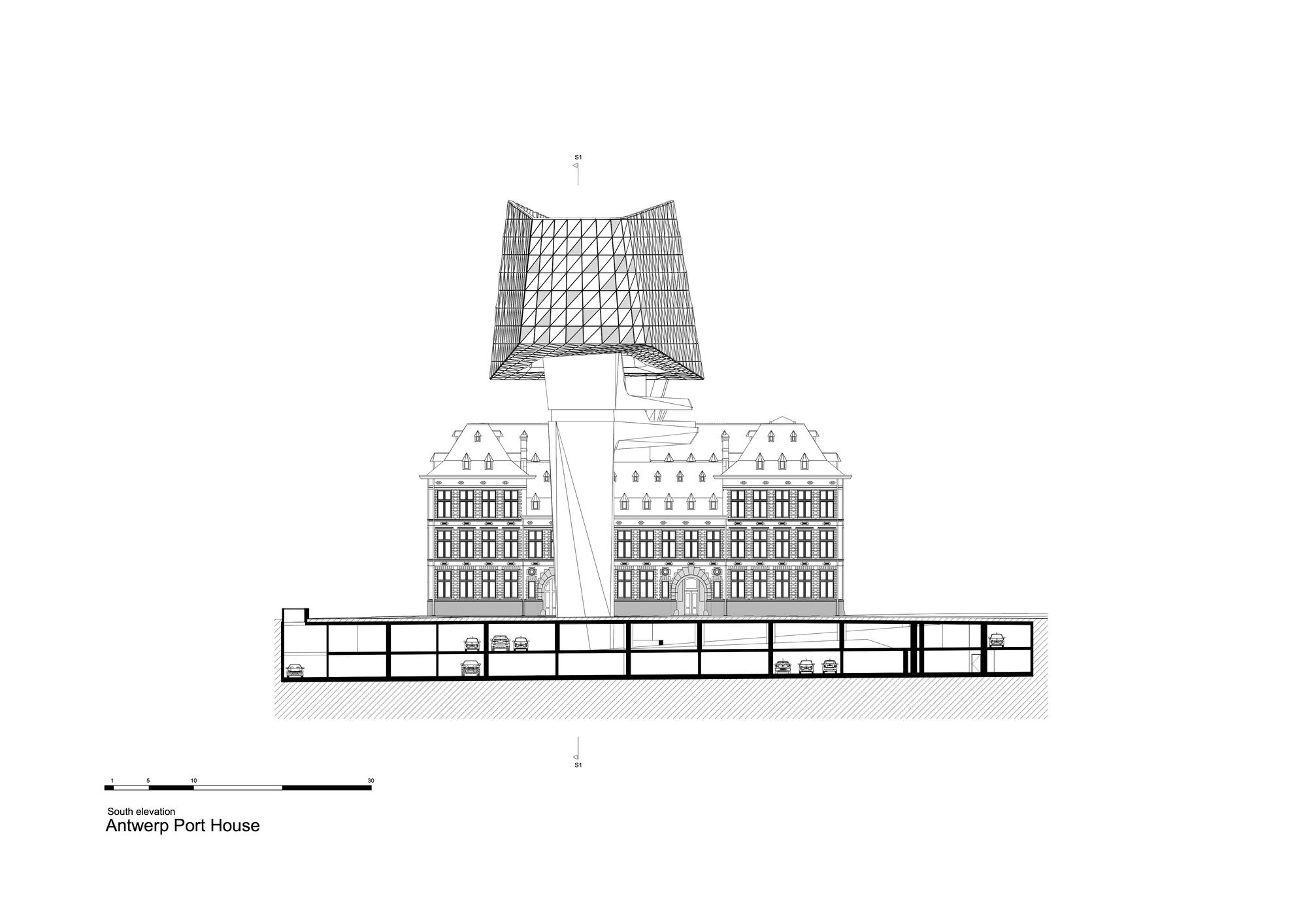 Galeria de edif cio no porto de antu rpia zaha hadid for 4 1 architecture view
