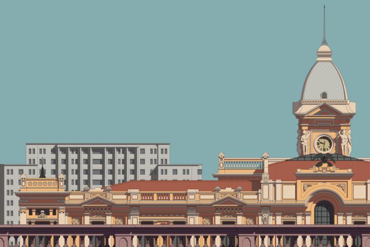 Praça da Estação, Belo Horizonte. Image © Zema Vieira