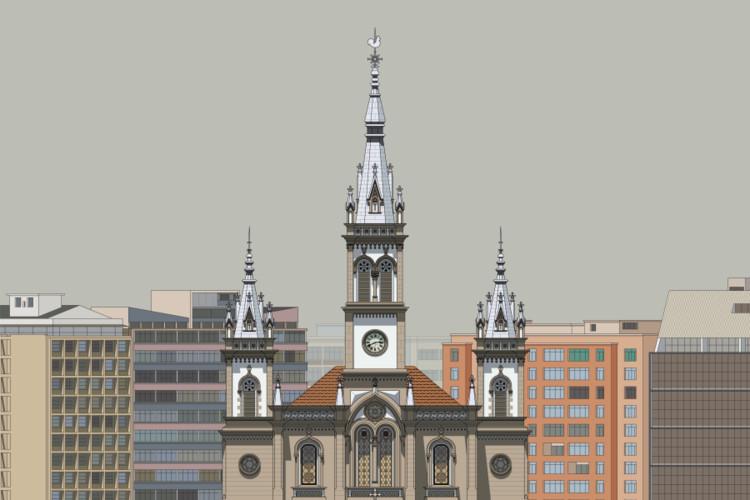 Igreja de São José, Belo Horizonte - fachada pré-restauro. Image © Zema Vieira