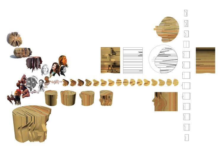 Dibujos preliminares de 'Familia de mesas'. Image © Uxio Da Vila