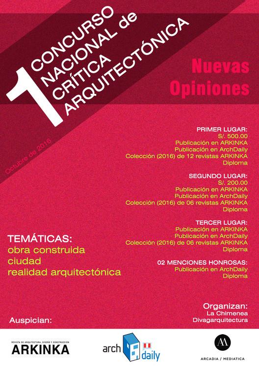 Primer Concurso Nacional de Crítica Arquitectónica / Perú, Cortesía de Cristina Dreifuss