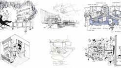 42 Sketches, Drawings and Diagrams of Desks and Architecture Workspaces