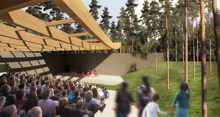 Nature-Inspired Design Named Winner of Sylvan Theatre Competition , Courtesy of Eric Rodrigues