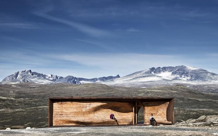 Wild Reindeer Pavilion en Tverrfjellhytta. Cortesía de Snøhetta