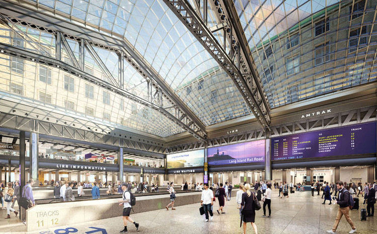 First Renderings Revealed of Revamped Plan for New York's Penn Station , © Empire State Development. Image courtesy SOM | Volley