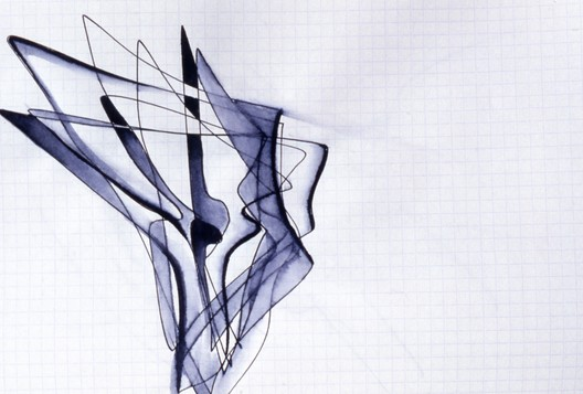 Zaha Hadid: Sketch Selection from Sketchbook 2001. Image © Zaha Hadid Architects. Courtesy of Serpentine Galleries