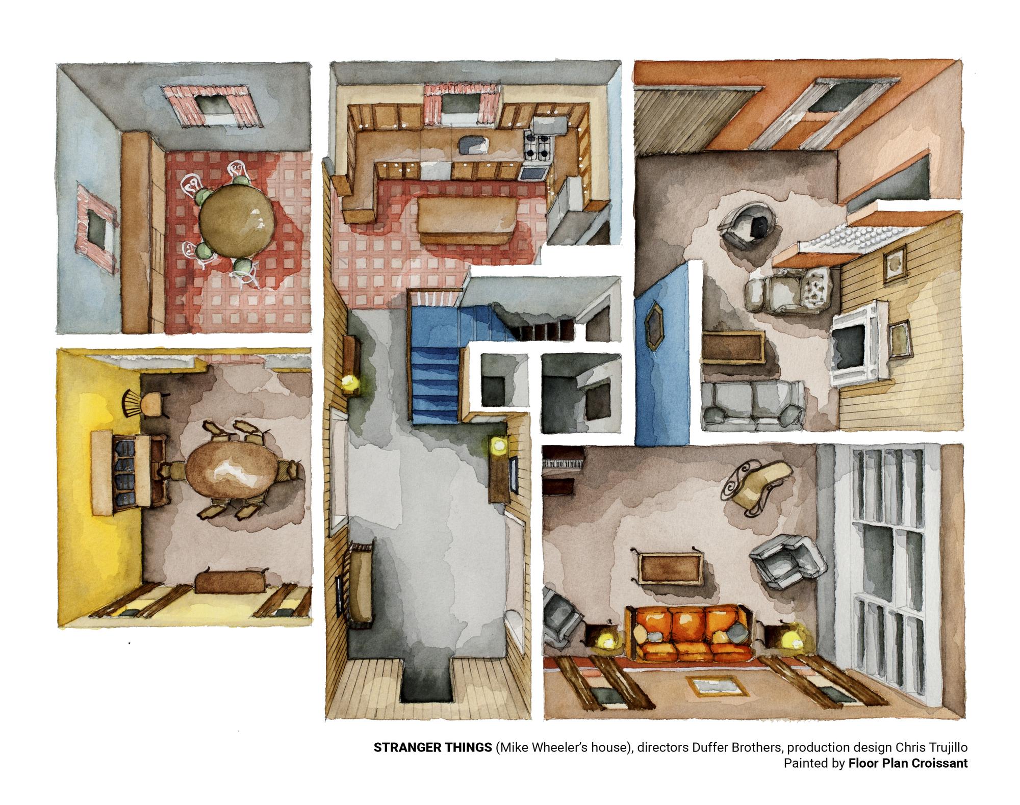 Coffee Shop Floor Plan Gallery Of Stranger Things Rendered In Amazing Plans 2