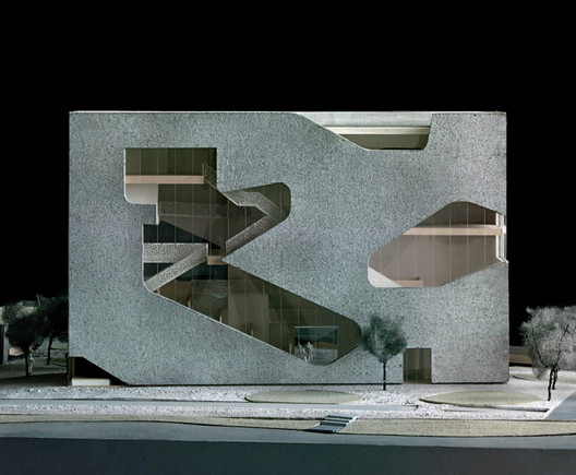 Model of the library. Image Courtesy of Steven Holl Architects