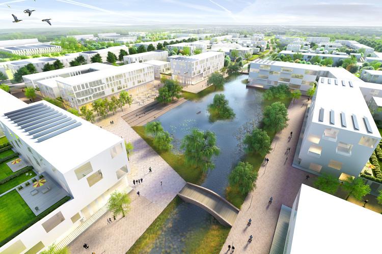 """KCAP & Kunst + Herbert Win Competition for """"Garden City of the 21st Century"""" in Hamburg, © KCAP / Kunst + Herbert"""
