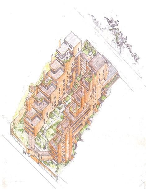 Edificio Alto de los Pinos . Image © Fundación Rogelio Salmona
