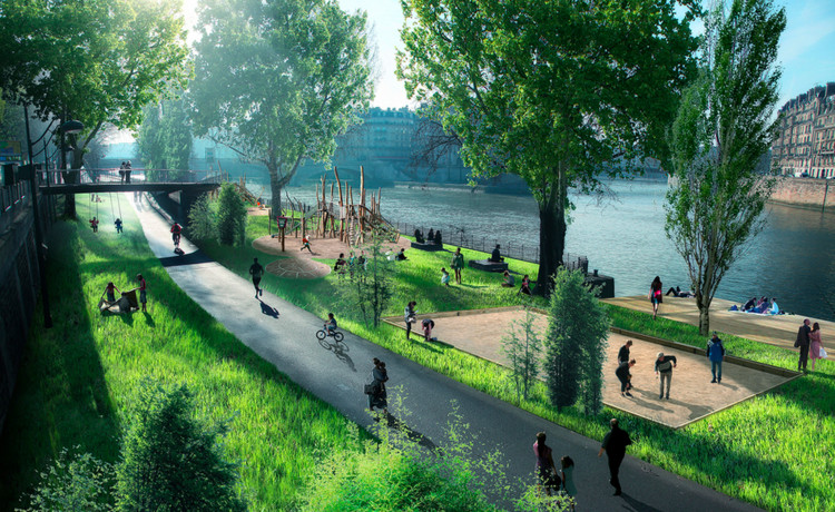 Paris aprueba construir más espacios públicos en la ribera del Sena, © Luxigon