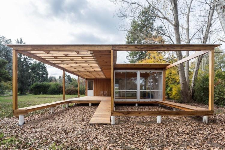 Casa de madera estudio borrachia plataforma arquitectura - Arquitectura en madera ...