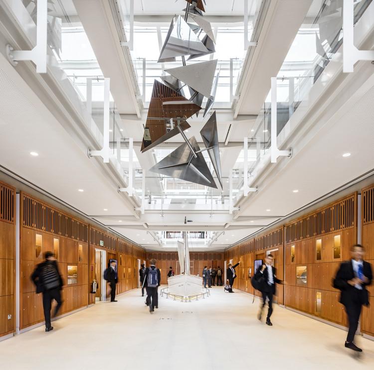 Laboratorio de la Escuela de Dulwich / Grimshaw, © Daniel Shearing