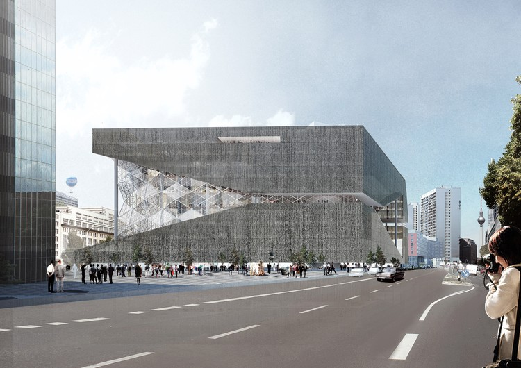 OMA Releases New Renderings of their Axel Springer Building in Berlin, Courtesy of OMA