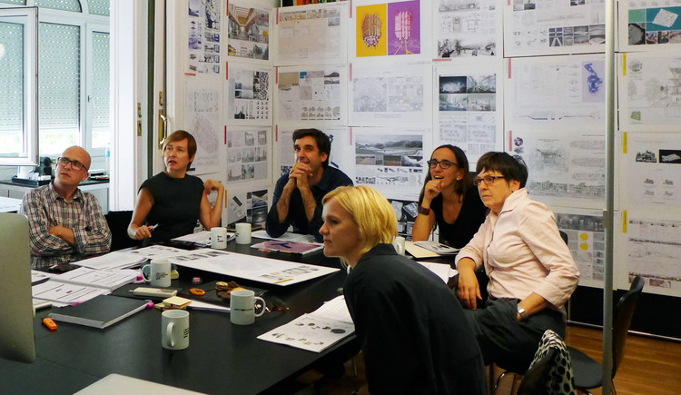 A shot from the jury deliberation. Image © YTAA - Young Talent Architecture Award