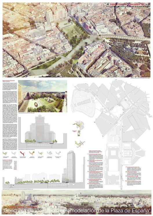 3 plazas, 2 paseos, 1 gran parque. Image © Difusión Ayuntamiento de Madrid