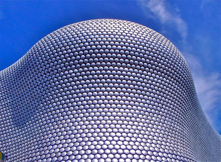 Aluminium discs at Selfridges Birmingham, 2003. Architects: Amanda Levete and Jan Kaplicky (Future Systems). Image © Ken Lee