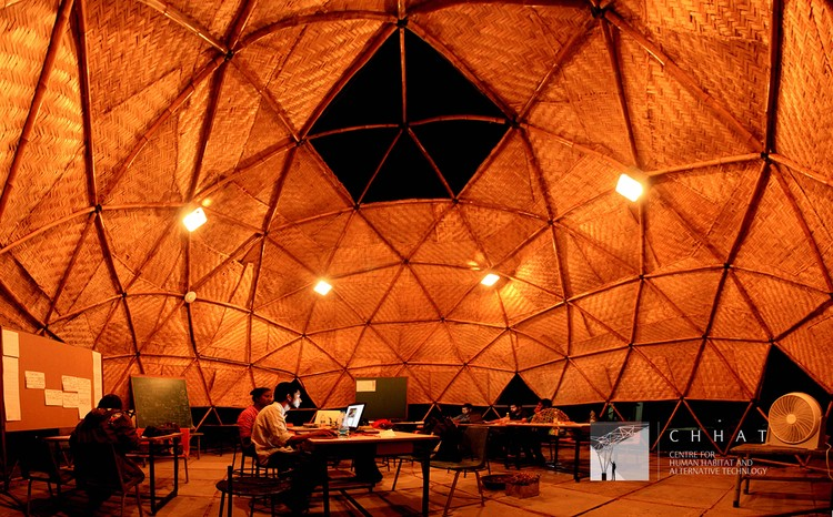 Adaptable Bamboo Geodesic Domes Win the Buckminster Fuller Challenge Student Category 2016, Courtesy of CHHAT