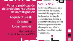 Call for papers: Revista Designia - Arquitectura, Diseño y Urbanismo