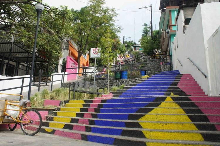 Escalera Canteras: Proyecto de integración urbana en Monterrey presente en la Bienal de Venecia 2016, Cortesía de Covachita