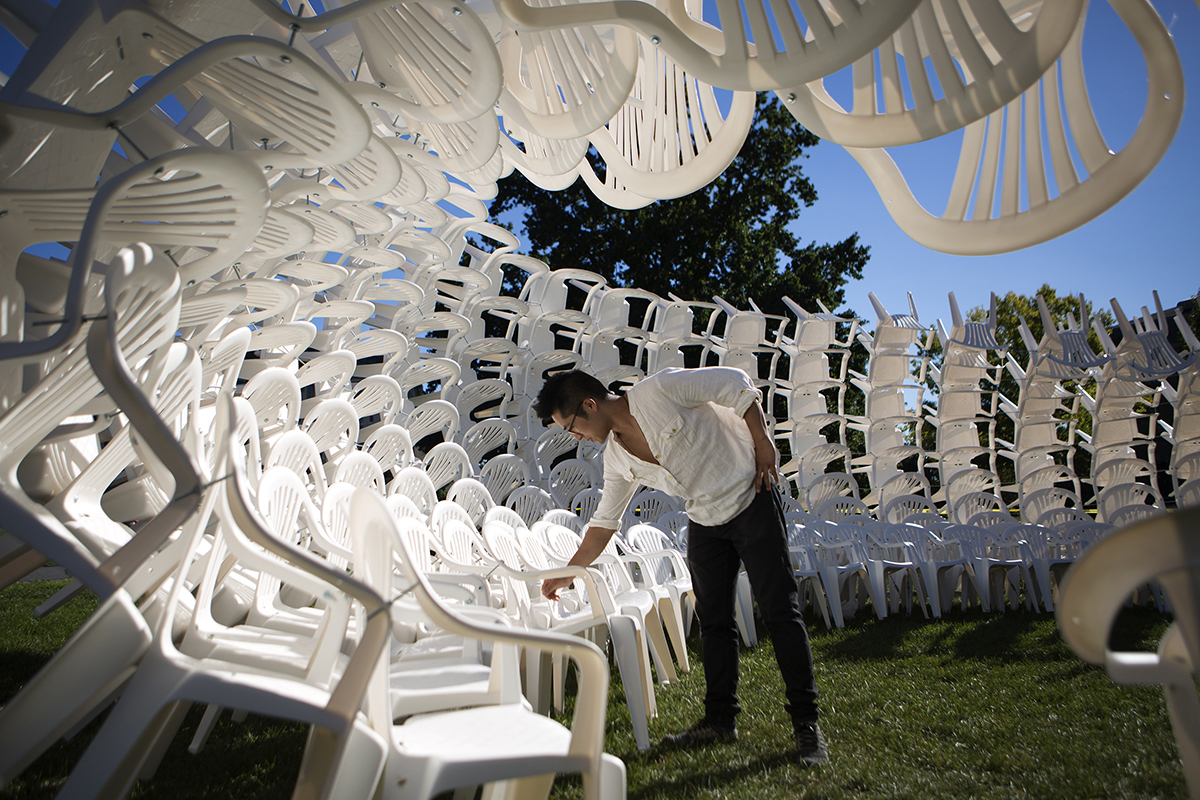 How Coda Used Hundreds Of White Plastic Chairs To Build A