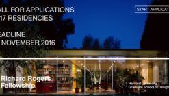 Call for Applications: Richard Rogers Fellowship 2017
