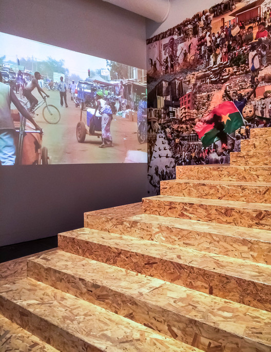 """Photo from """"In search of a new Ouagadougou"""" at the 15th International Architecture Exhibition at the Venice Biennale. Image Courtesy of Kéré Architecture"""