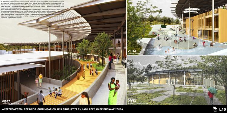 Espacios comunitarios: una propuesta en las laderas de Buenaventura. Image © Alexandra Bolaños Bejarano, Fabio Palomino Panameño, Juan Manuel Bernal Arias