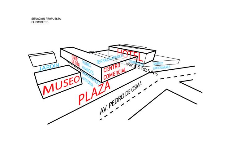 Esquema axonométrico. Image Cortesía de Gómez Platero Arquitectos