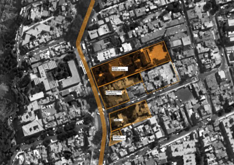Esquema ubicación. Image Cortesía de Gómez Platero Arquitectos