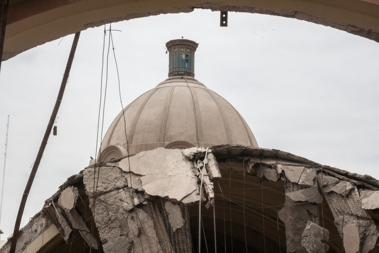 Templo de Luren afectado por el sismo del 2007. Image © Juan Manuel Parra
