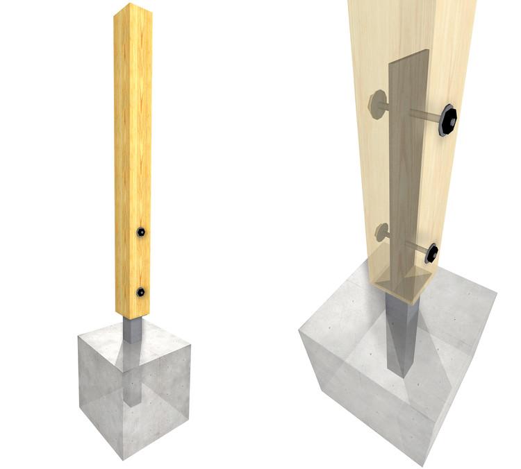 15 herrajes met licos para conectar estructuras de madera for Herrajes para muebles de madera