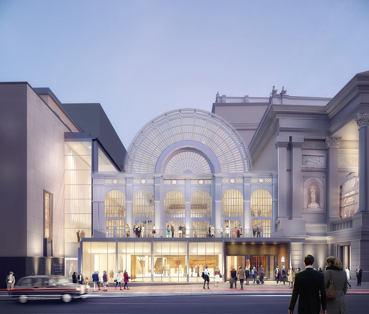 Stanton Williams presenta nuevas imágenes de su renovación de la Royal Opera House de Londres, New Exterior View. Image © Stanton Williams