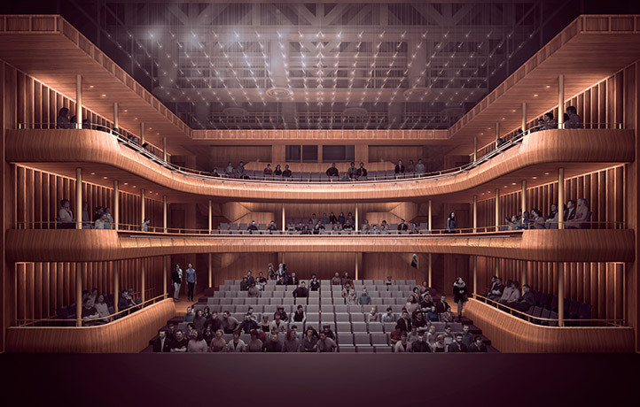 Original Theater Rendering. Image © Stanton Williams